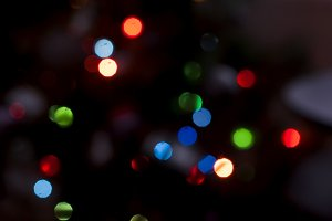 Christmas bokeh blurred