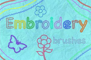 160 Embroidery Brushes