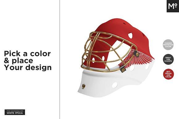 Hockey Goalie Mask Mock Up Product Mockups Creative Market