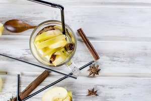 Autumn coktail with apples