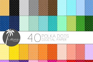 Polka Dots Digital Paper Set