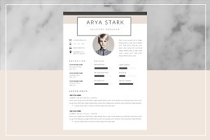 Arya Stark Resume Template and Cover