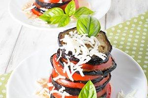 Вaked eggplant with tomato