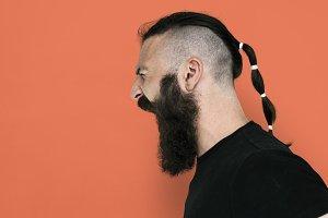 Man Side View Facial Hair