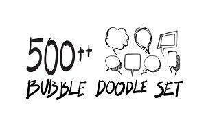 500++  Speech bubbles doodle vet set
