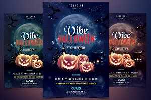 Vibe Halloween - PSD Flyer Template