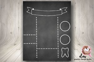 printable blank chalkboard template stationery templates creative market
