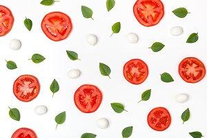 Tomatoes and mozzarella cheese