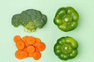 Minimal concept. Vegan food