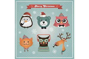 Cute Christmas Animals and Pets