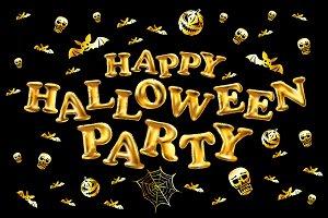 Halloween party gold balloon
