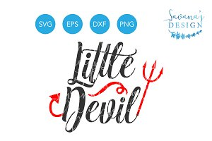 Little Devil SVG Baby Halloween SVG