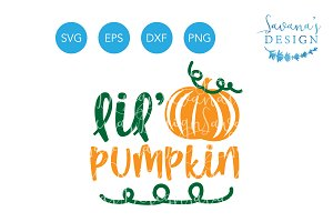 Lil Pumpkin SVG Cute Baby Fall SVG