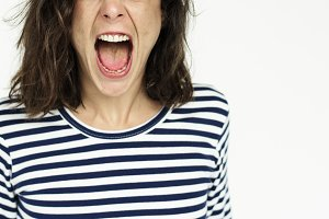 Woman Face Scream Expression
