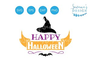 Happy Halloween SVG Witch Hat SVG