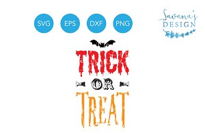 Trick or Treat SVG Halloween Design