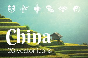 CHINA - vector icons