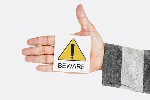 Beware note
