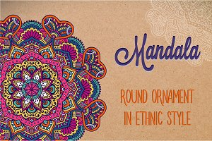 Mandala. Ornament in ethnic style