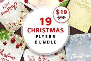 19 Christmas Flyers Bundle