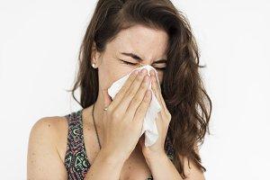Sneezing into