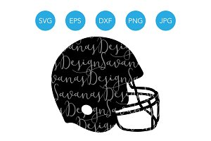 Football Helmet SVG Football SVG