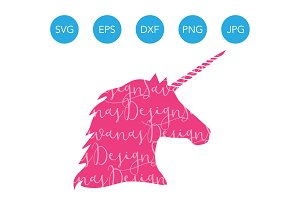 Unicorn SVG Unicorn Head SVG