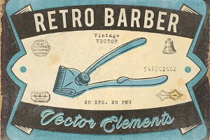 Retro Barber Pack
