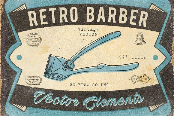 Retro Barber Pack-Graphicriver中文最全的素材分享平台