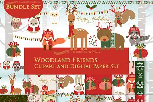 Woodland Friend Holidays Red