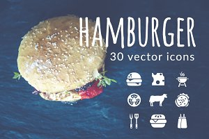 HAMBURGER - vector icons