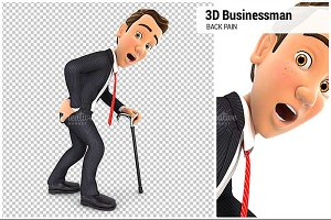 3D Businessman Back Pain
