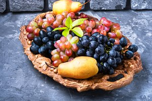 Seasonal autumn grapes