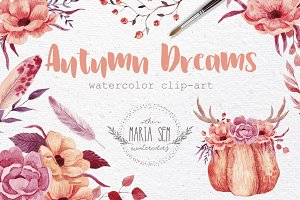 Autumn Dream Watercolor set