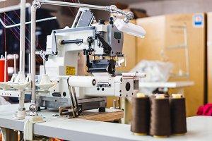 Professional overlock sewing machine