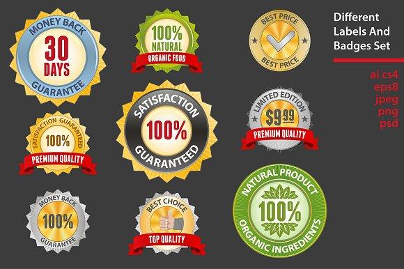 Badges set