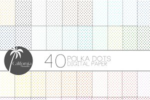 Polka Dot Digital Paper Set