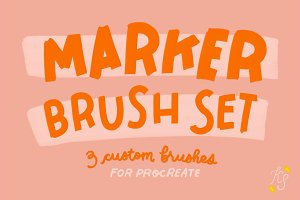 Procreate Marker Brush Set