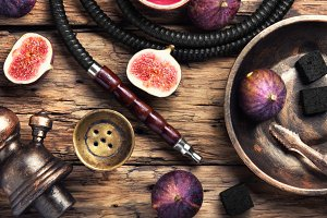 fashionable hookah in figs