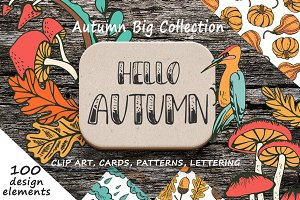 Hello Autumn - Big hand drawn set