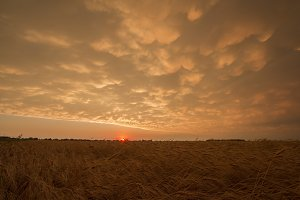 Prairie Storm and Sunset