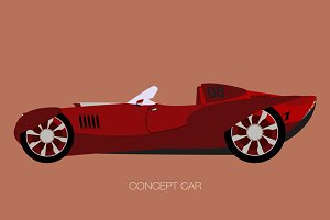 race concept car icon