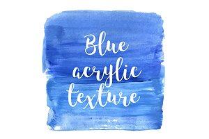 Blue acrylic texture. Vector