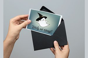 Cute Happy Halloween cards. eps+jpg