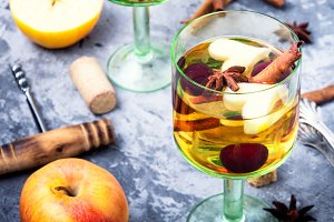 Traditional winter alcohol drink