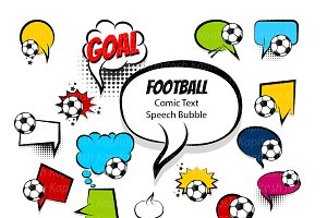 Comic football text speech bubble