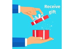 Man receive the present