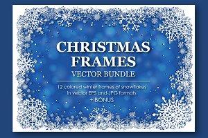 Vector Christmas Frames Collection
