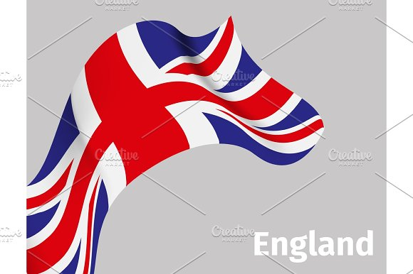 Background With England Wavy Flag