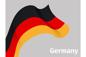 Background with Germany wavy flag